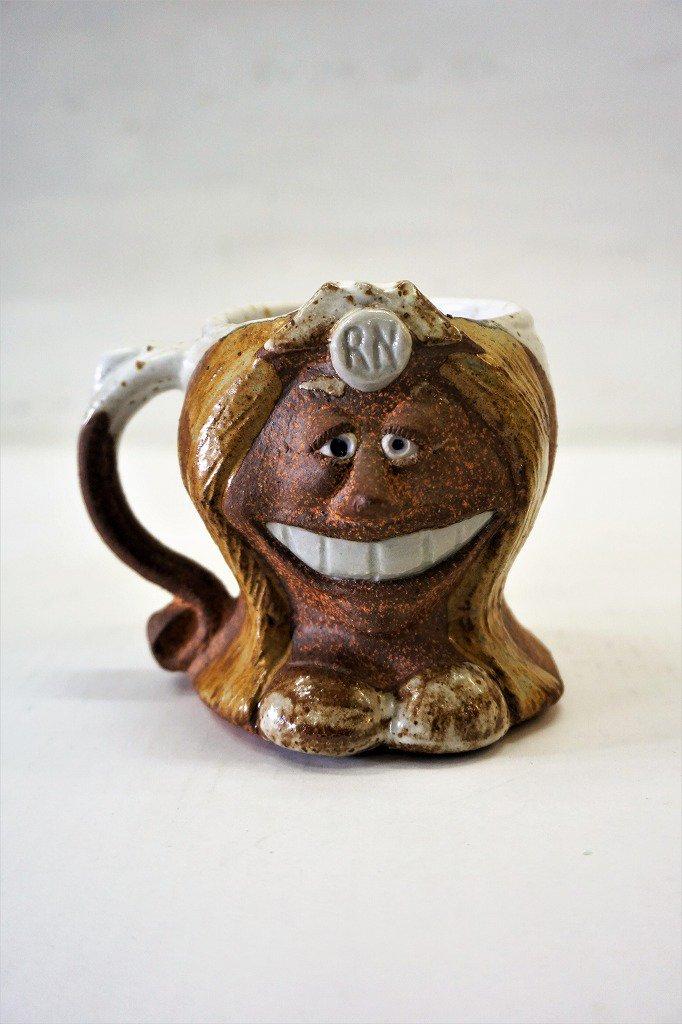 USA製 ストーンウェア フェイス マグカップ