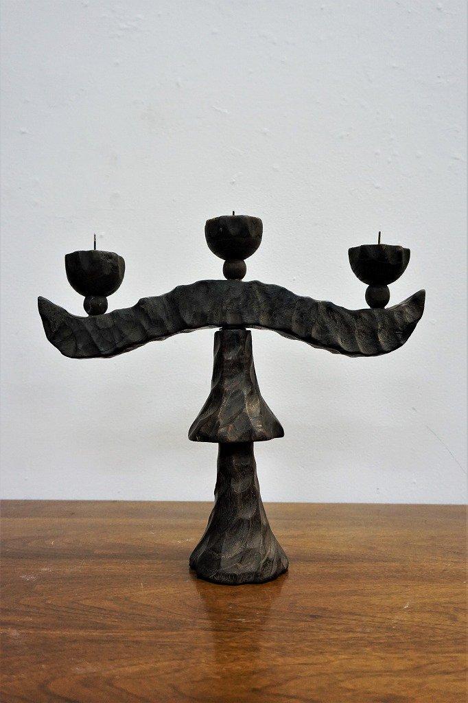 1960-70's ウッド キャンドルホルダー