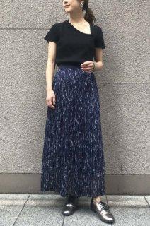 Floral pleats skirt