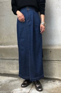 Denim tight long skirt