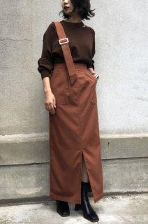 One-shoulder ascimetite skirt