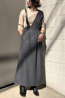 Check x asymmetric jumper skirt