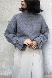 Fabric asymmetric sleeve belt knit