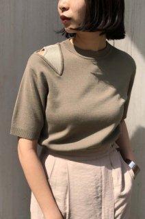 Asymmetric slit knit