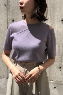 Asymmetry sheer knit