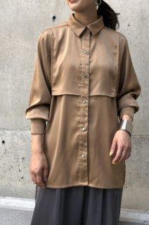 Layered satin shirt