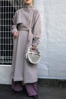 Stand collar long coat