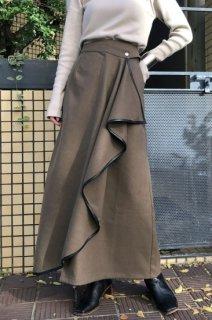 Raffle flared skirt