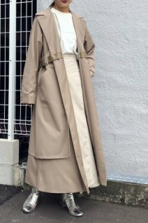 Vest layered coat