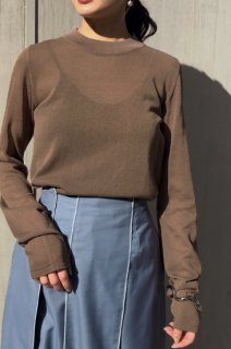 Sheer high neck knit