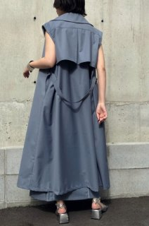 Trench-like gilet coat