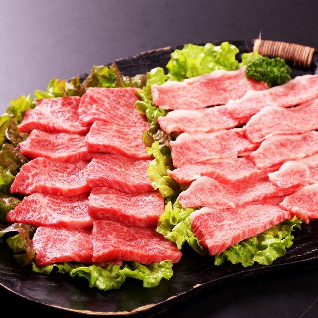 国産黒毛和牛の厳選カルビーと厳選ロース食べ比べセット
