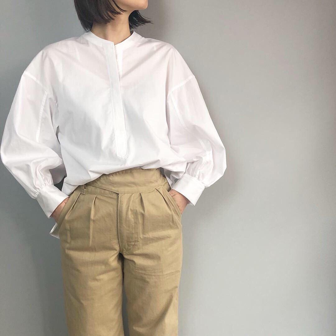 SINME ボリュームシャツ<BR>ホワイト