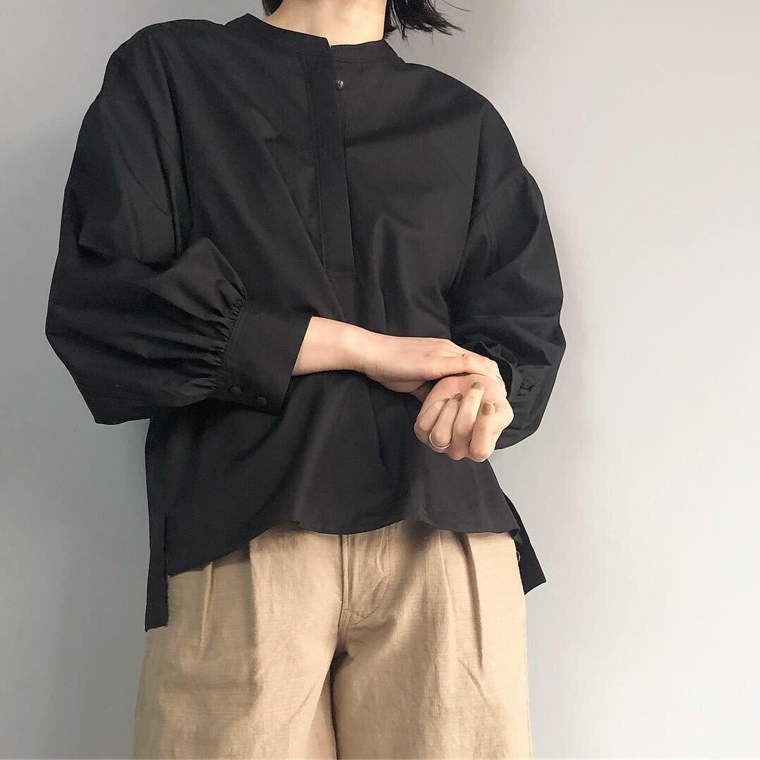 SINME ボリュームシャツ<BR>ブラック