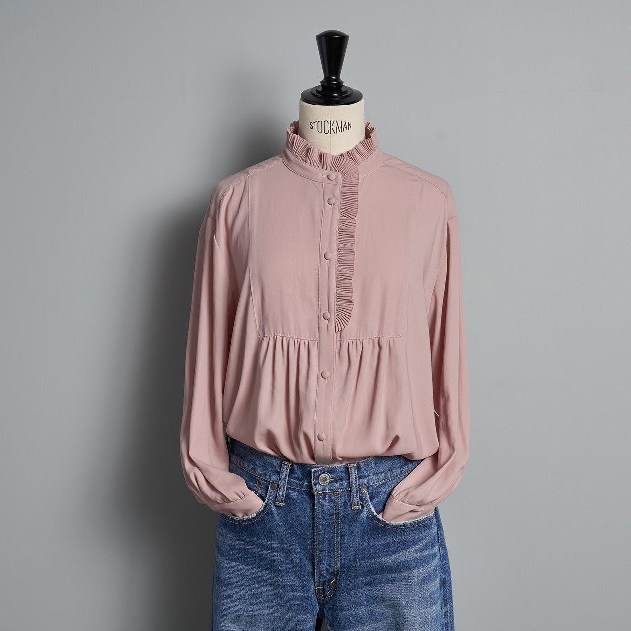 PaleJute<BR>Pleated blouse sophie<BR>antique rose