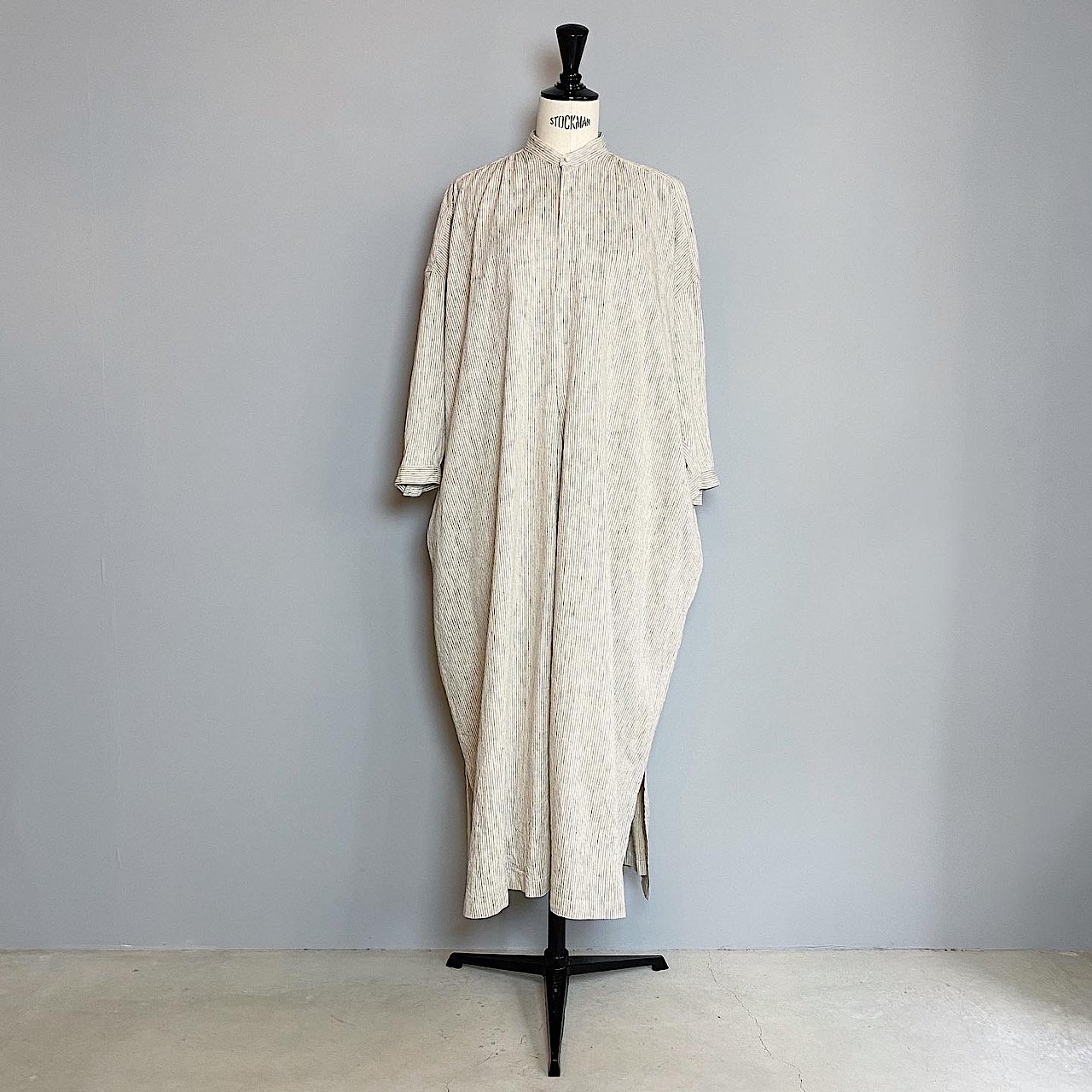 suzuki takayuki <BR> peasant dress � ・ nude stripe