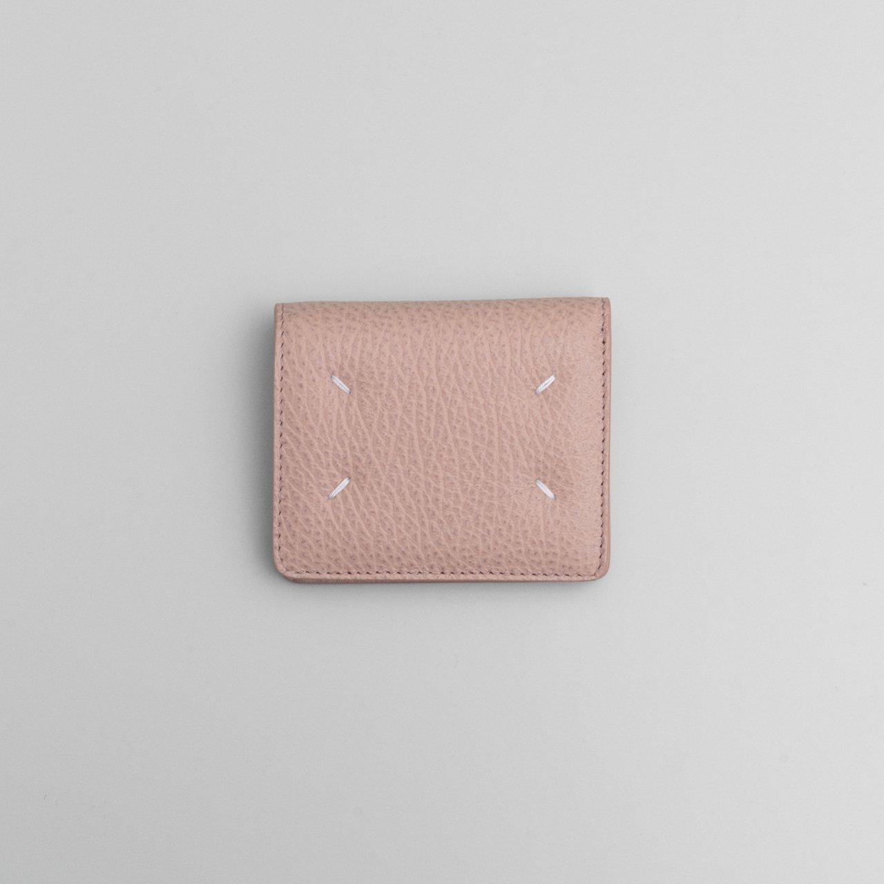 Maison Margiela PARIS <BR>レザー ポッパーウォレット<BR>ピンク