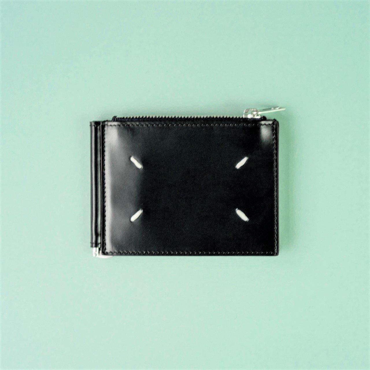 Maison Margiela PARIS <BR>マネークリップ付きウォレット<BR>ブラック