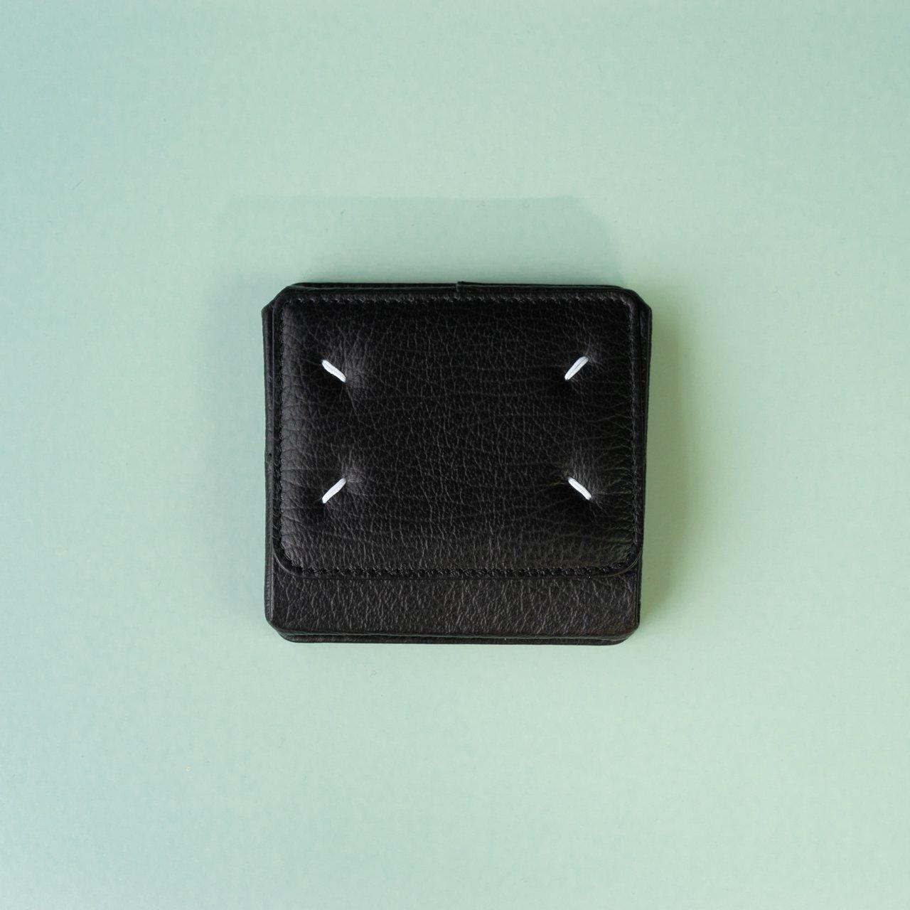 Maison Margiela PARIS <BR>カードホルダー付きコインウォレット<BR>ブラック