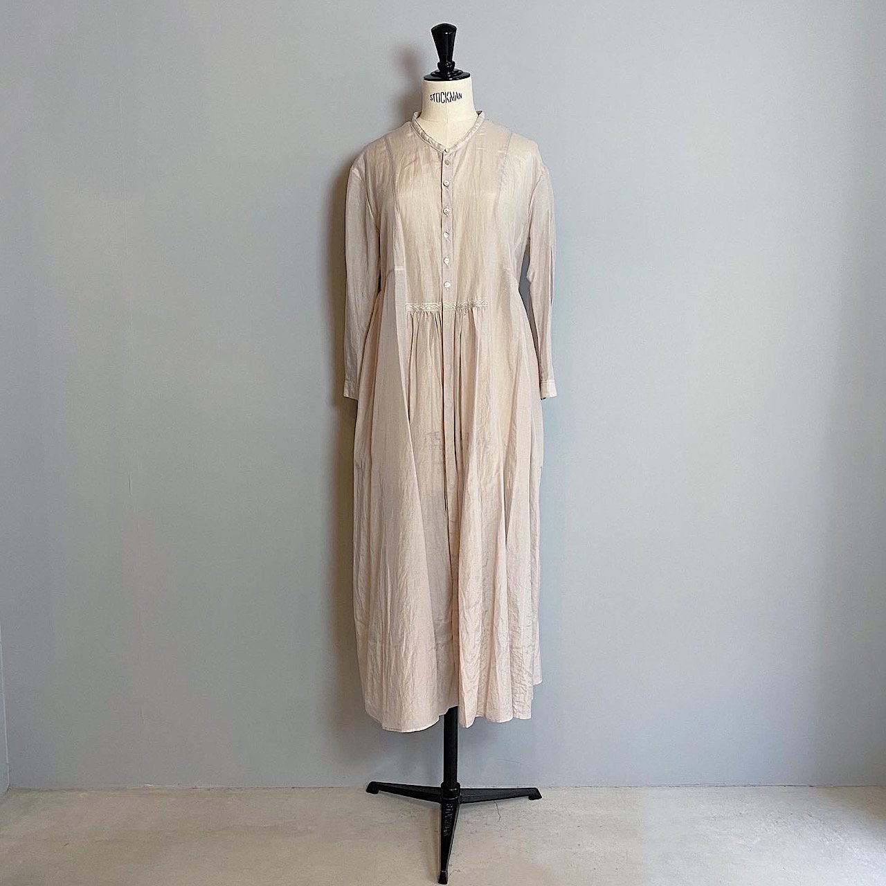 suzuki takayuki <BR> gathered dress<BR>ice gray