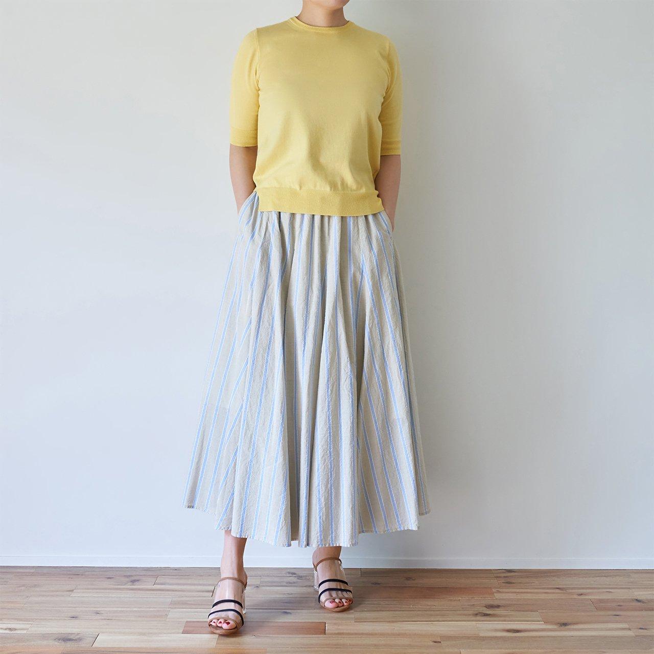 Pale Jute <br>bailaora skirt �<br>BEIGE × SAX