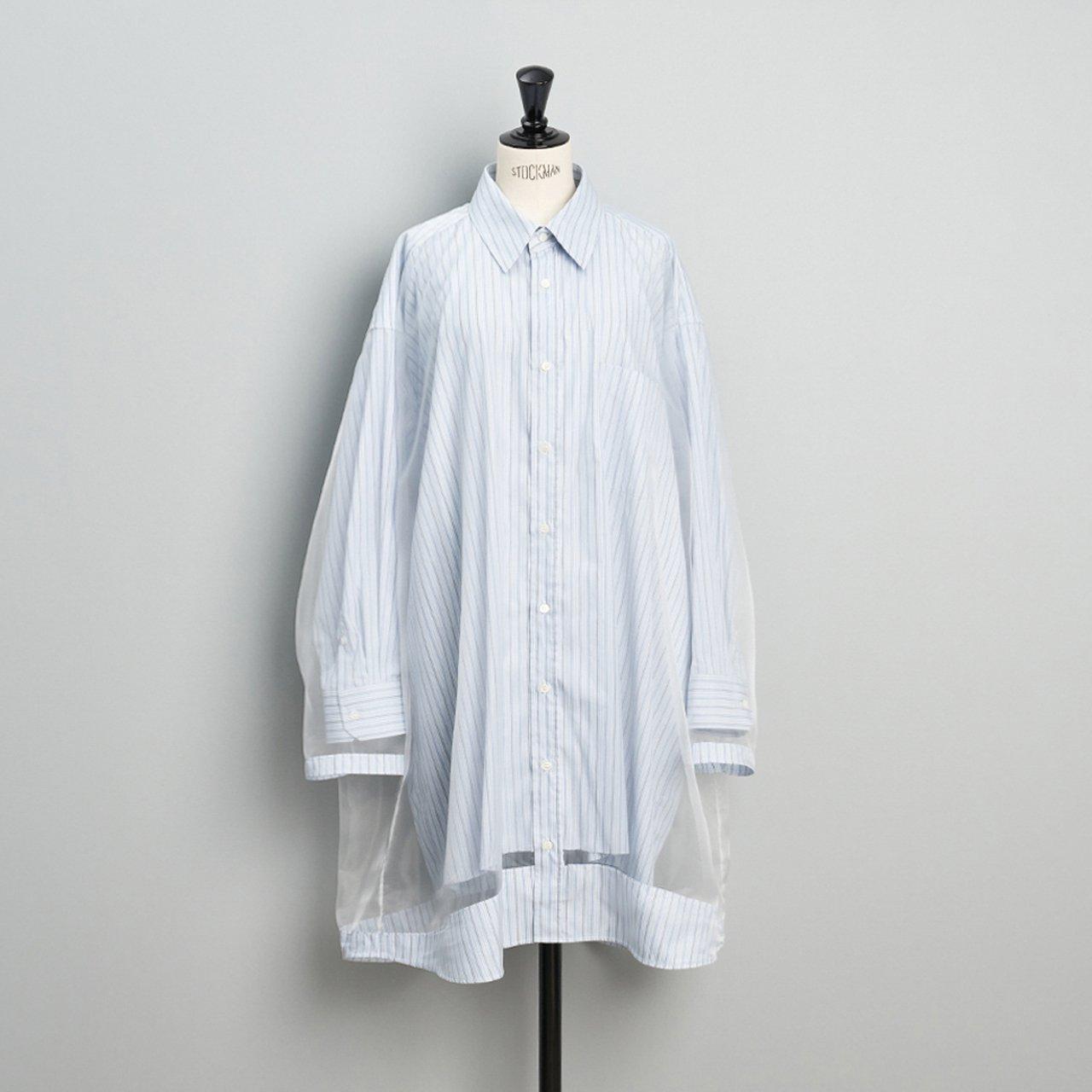 Maison Margiela PARIS <BR>パネルシャツドレス <BR>ストライプ