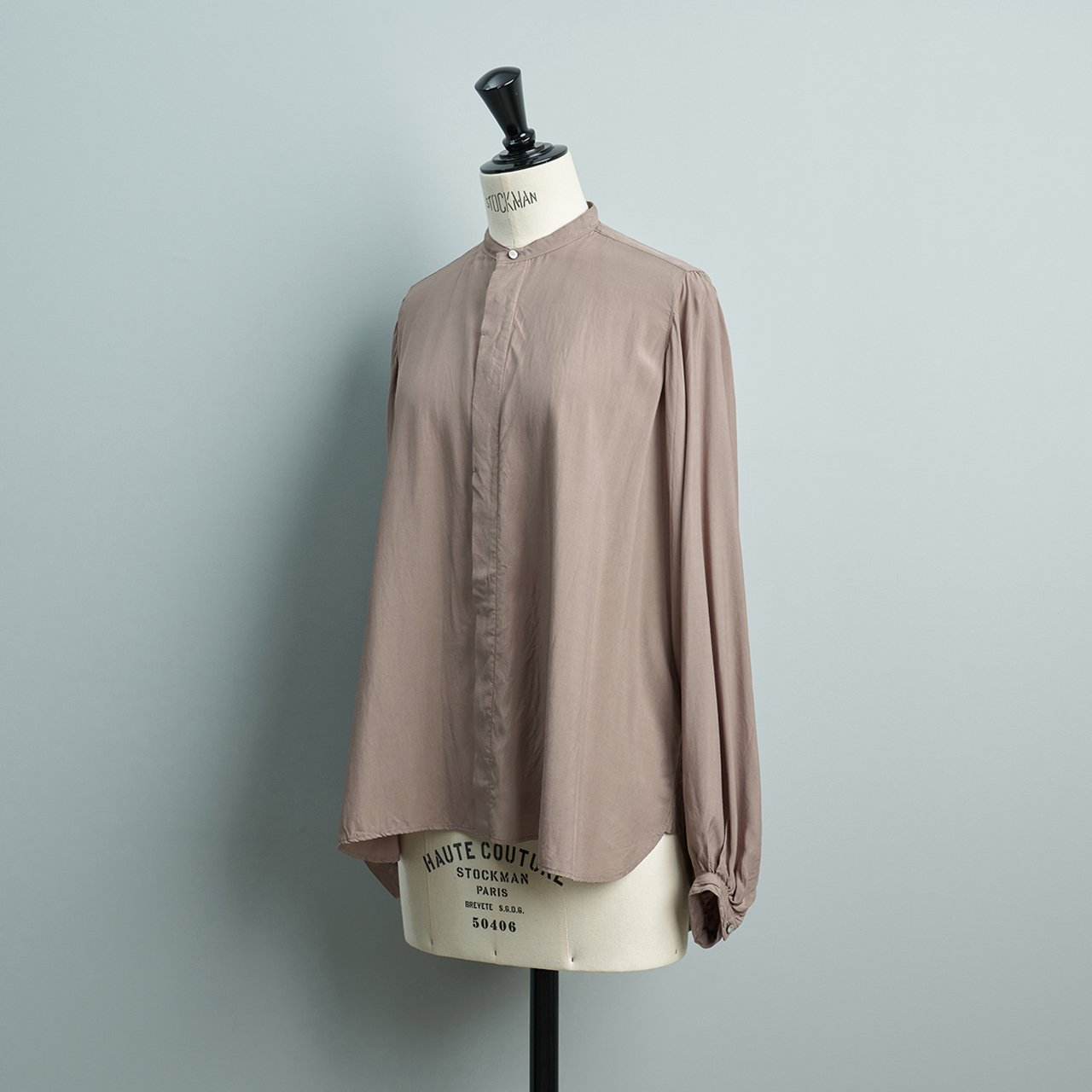 suzuki takayuki <BR>balloon-sleeve blouse<BR>grey
