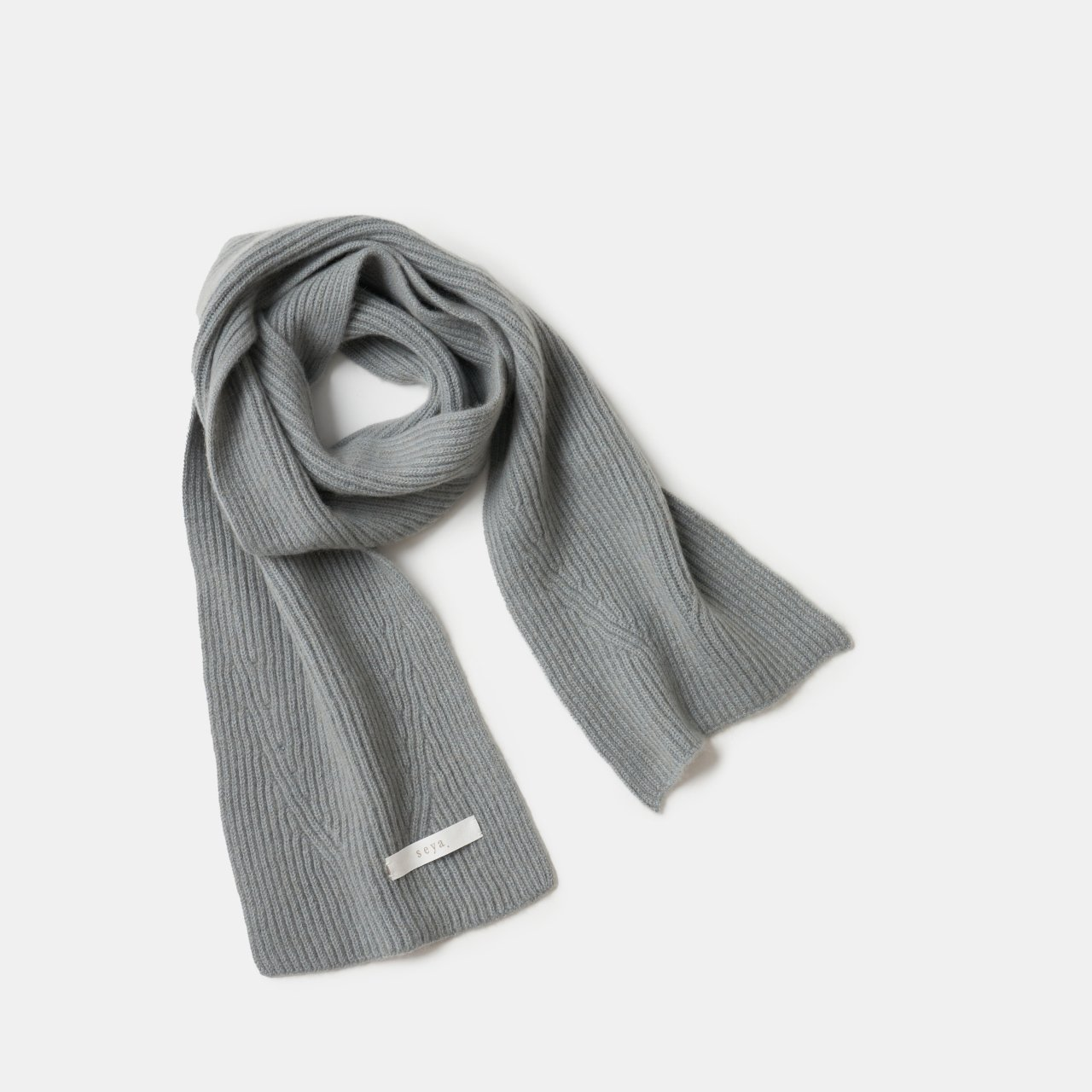seya.<BR>Cashmere double ribbed knit <BR>Cloudy sky