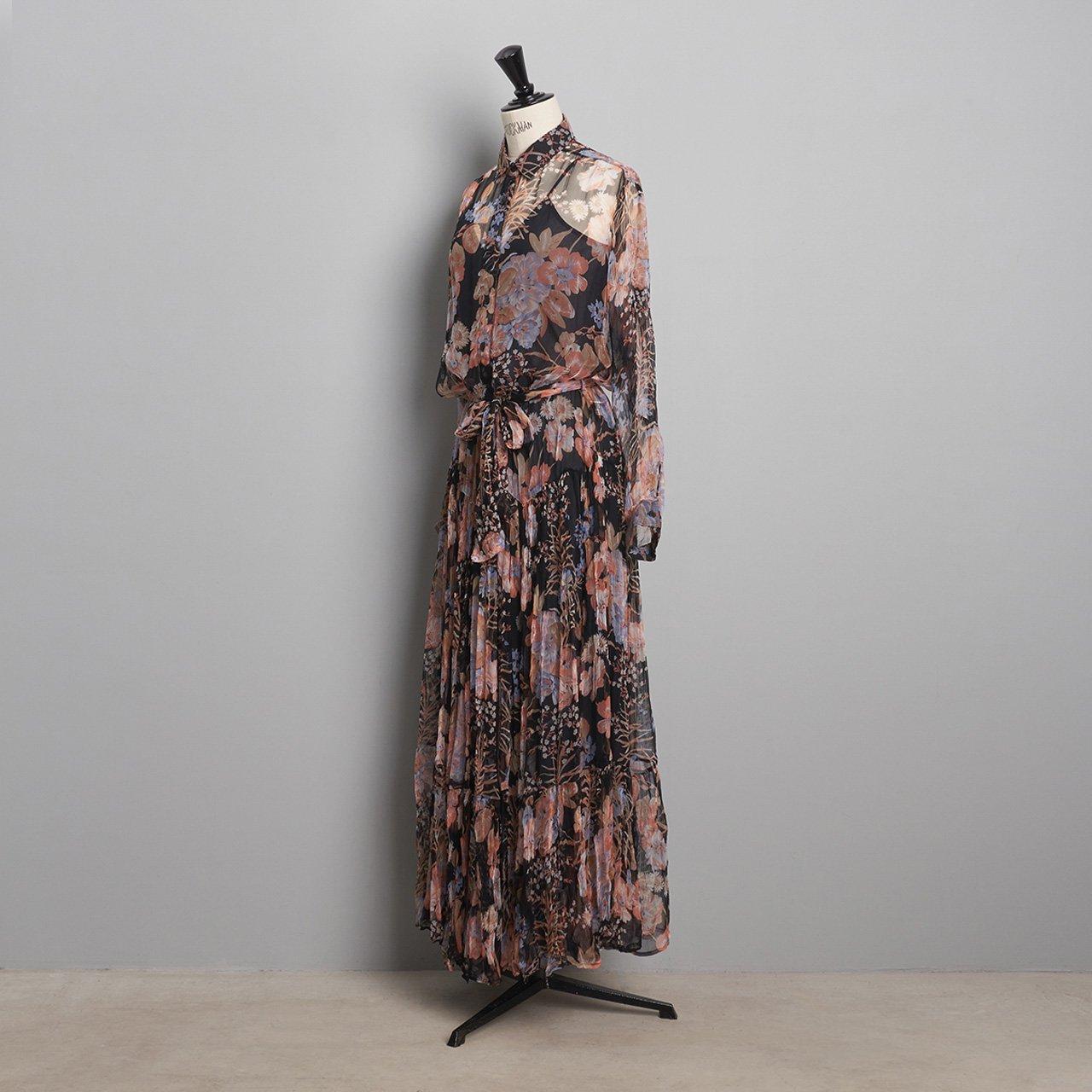 Mes Demoiselles<BR>DRESS HALFETI<BR>FLORAL COMBO