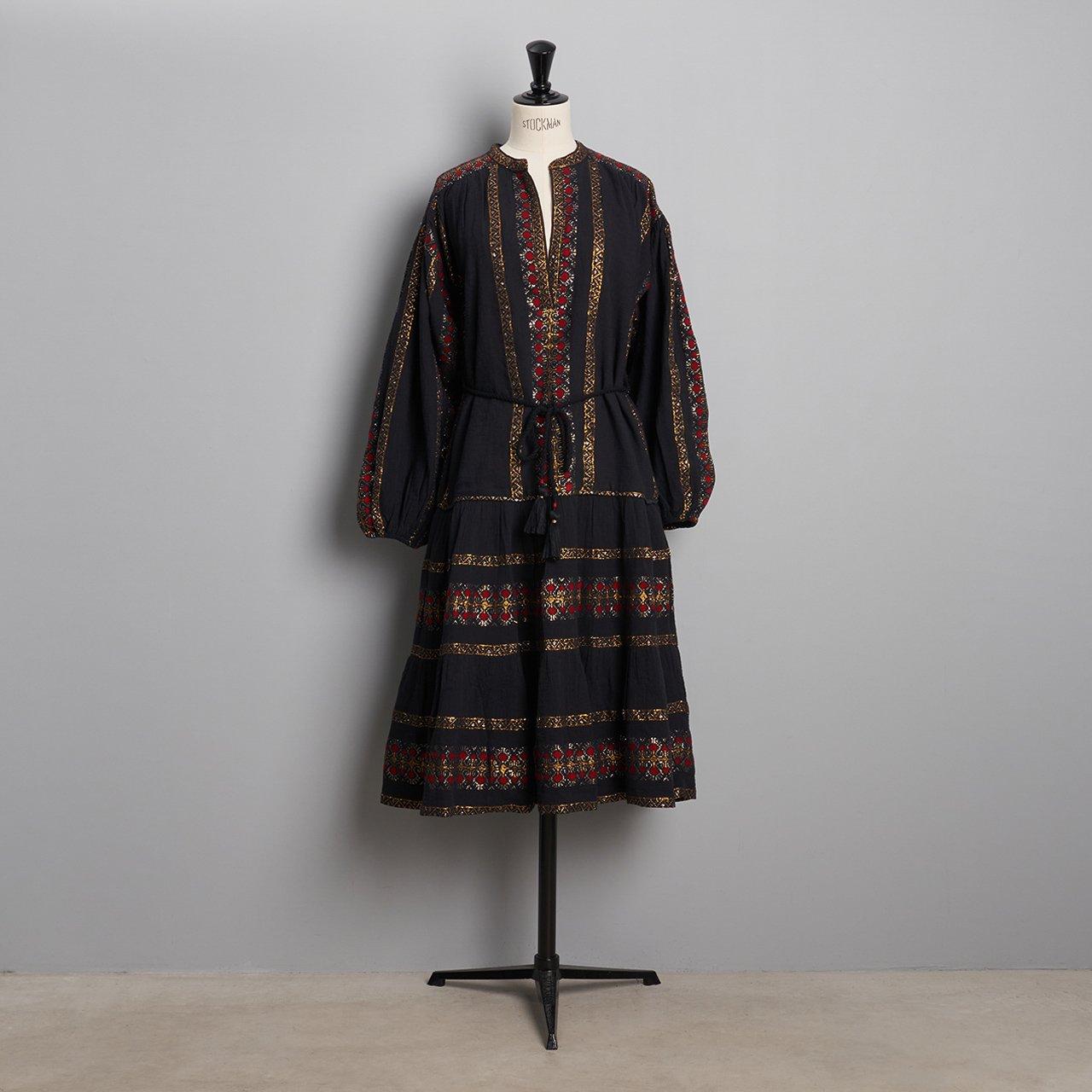Mes Demoiselles<BR>DRESS MONTSERRAT<BR>BLACK COMBO