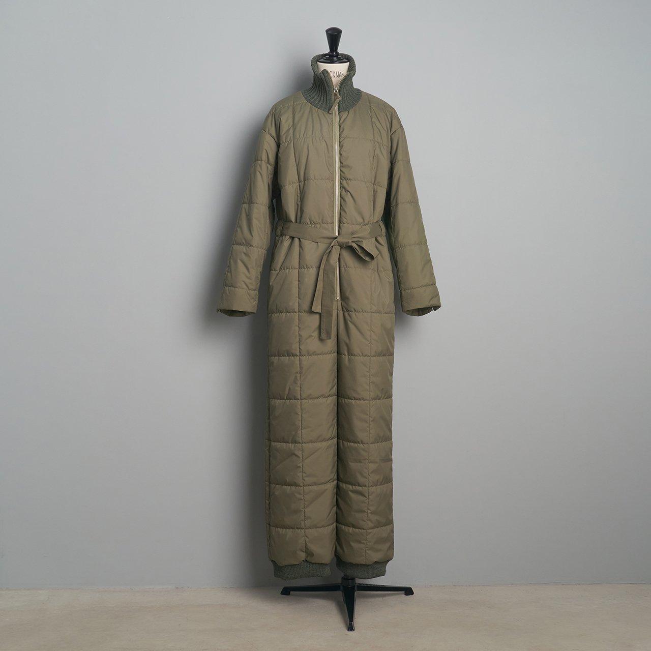 pelleq<BR>quilted jumpsuit<BR> sage