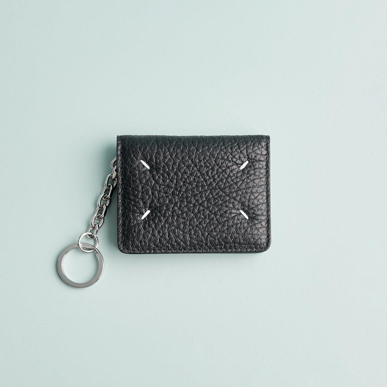 Maison Margiela PARIS <BR> キーホルダー付きカードケース<BR>ブラック