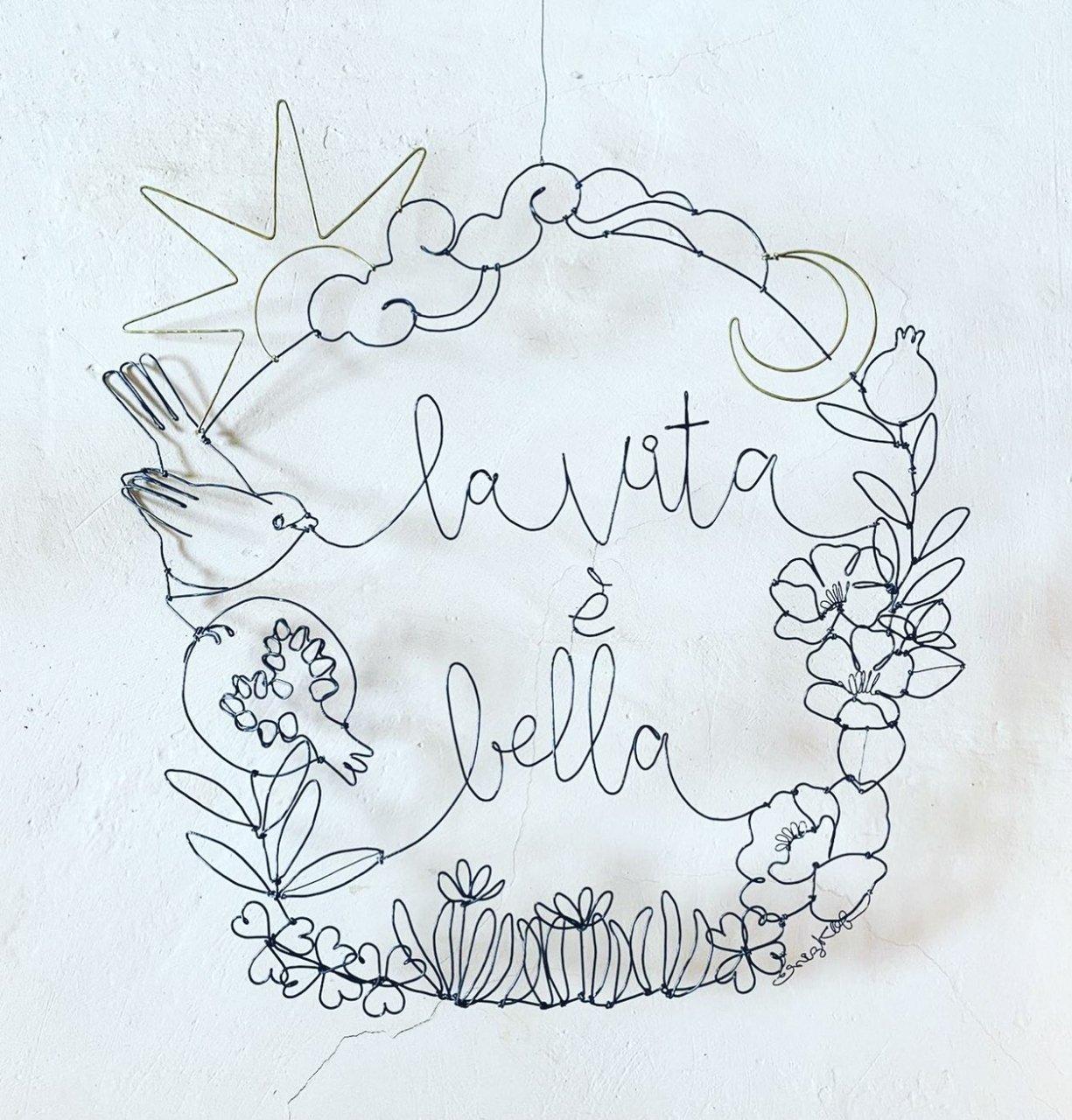 ChizuKobayashi<BR> wire wreath<BR>「 la vita è bella 」