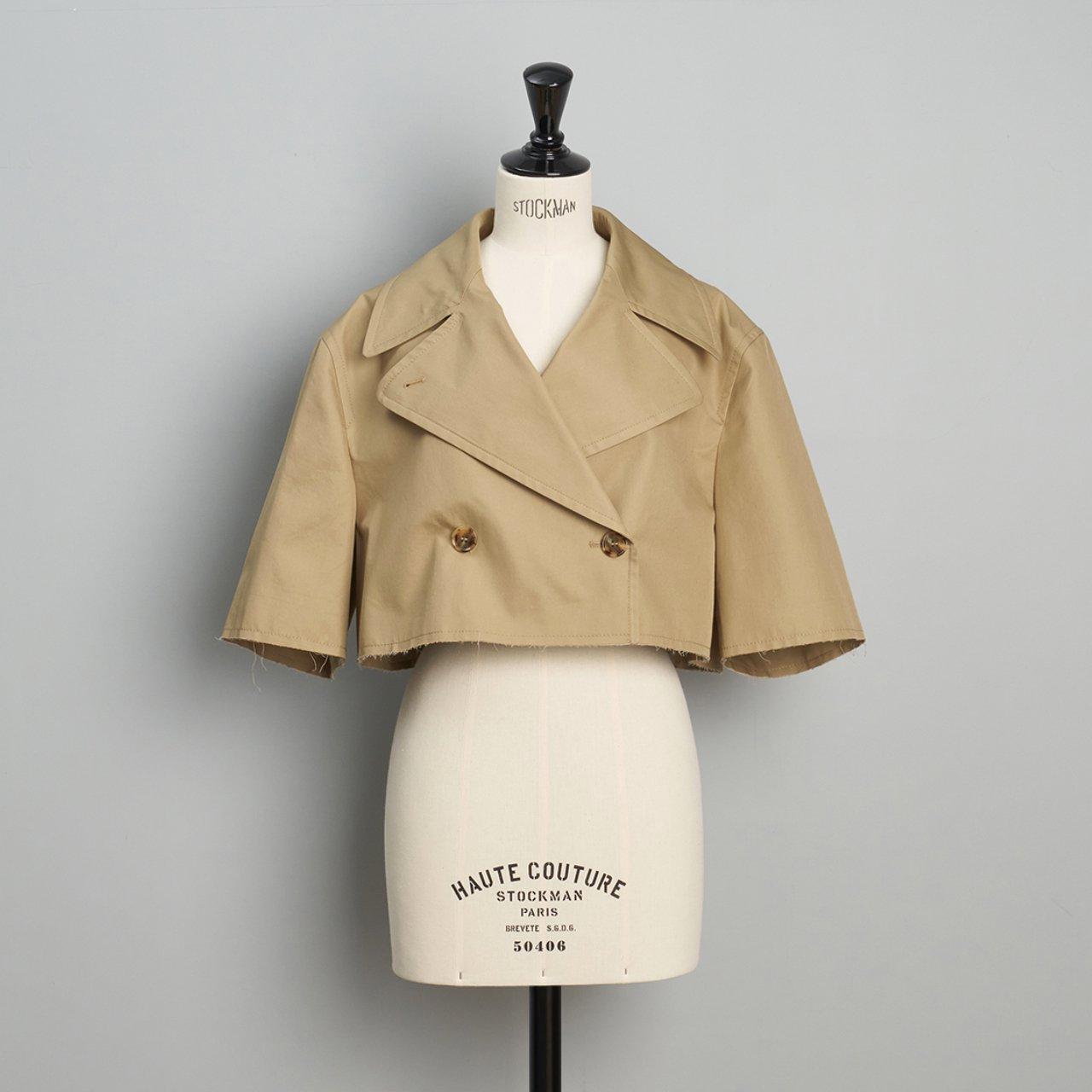 MM6 Maison Margiela <BR>small cut Trench Jacket<BR>ベージュ