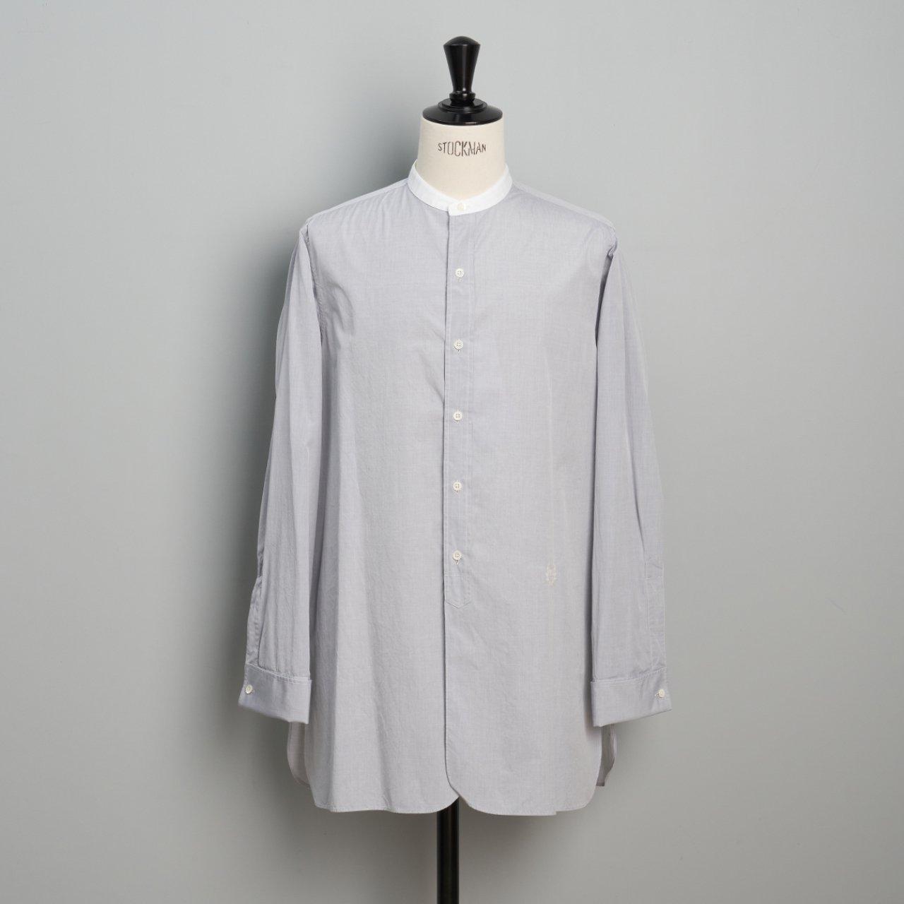 Maison Margiela PARIS <BR>ノーカラーシャツ<BR>グレー