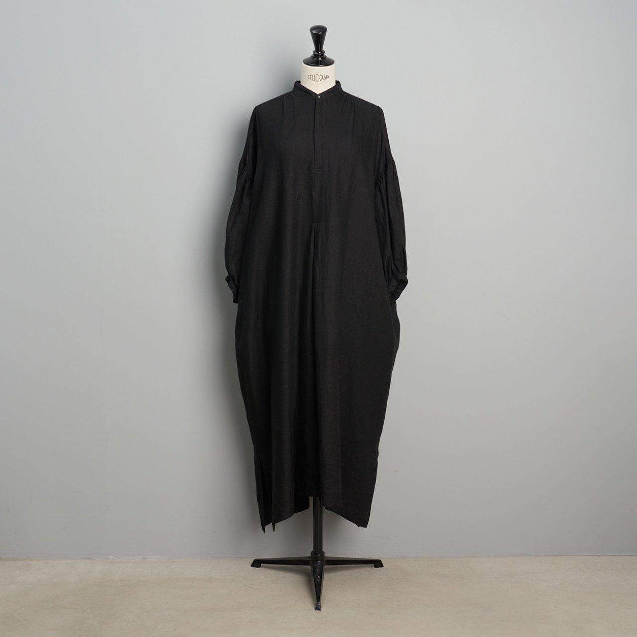suzuki takayuki <BR>puff-sleeve dress<BR>black