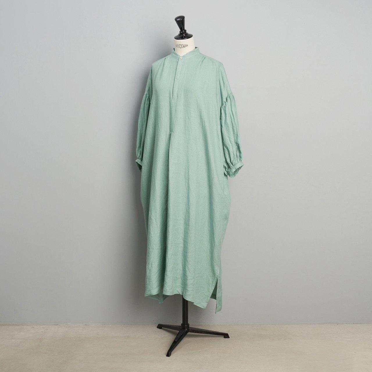 suzuki takayuki <BR>puff-sleeve dress<BR>spray green