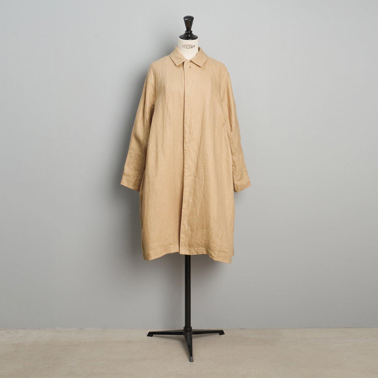 suzuki takayuki <BR>stand-fall-collar coat<BR>sand beige