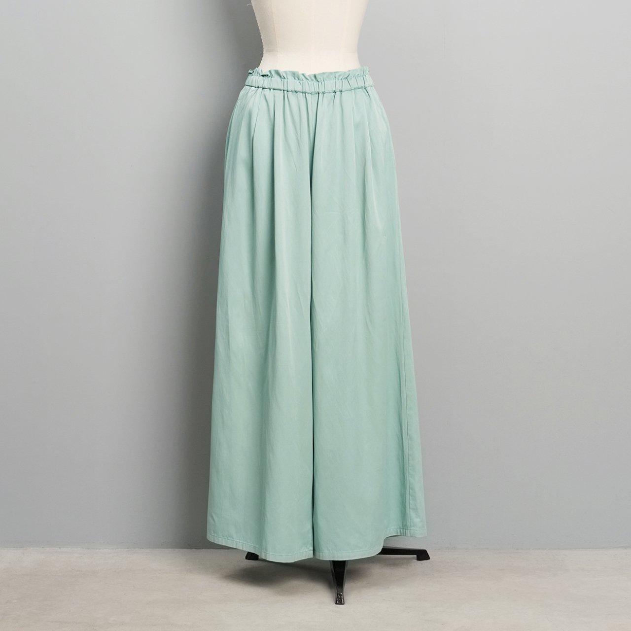 suzuki takayuki<BR>gathered pants<BR>Spray green