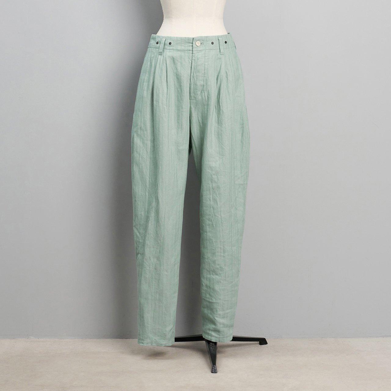 suzuki takayuki<BR>tapered pants<BR>Spray green