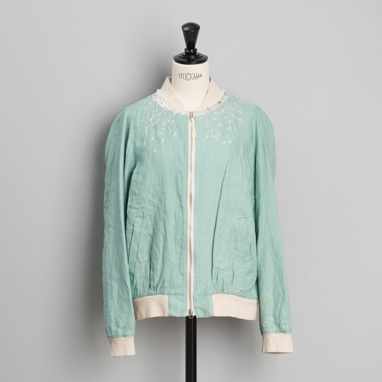 suzuki takayuki <BR> embroidered blouson<BR>Spray green