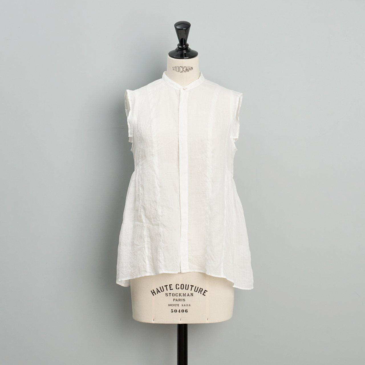 suzuki takayuki<BR>band sleeve blouse<BR>nude