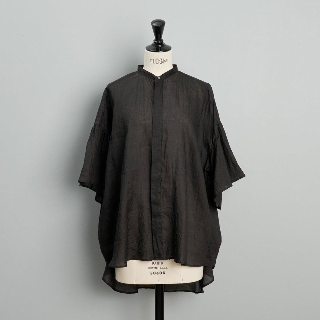 suzuki takayuki<BR>flared sleeve blouse<BR>black