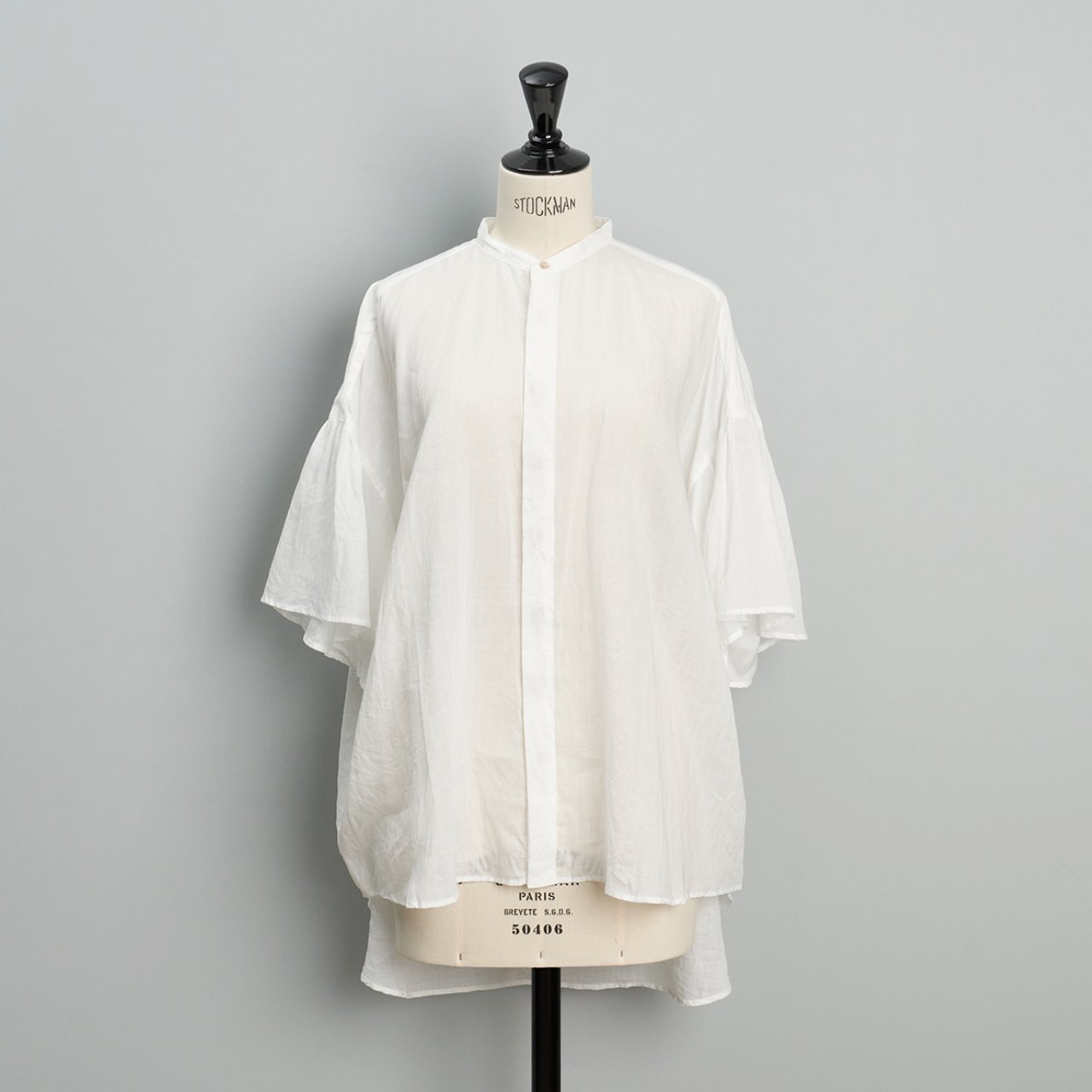 suzuki takayuki<BR>flared sleeve blouse<BR>nude