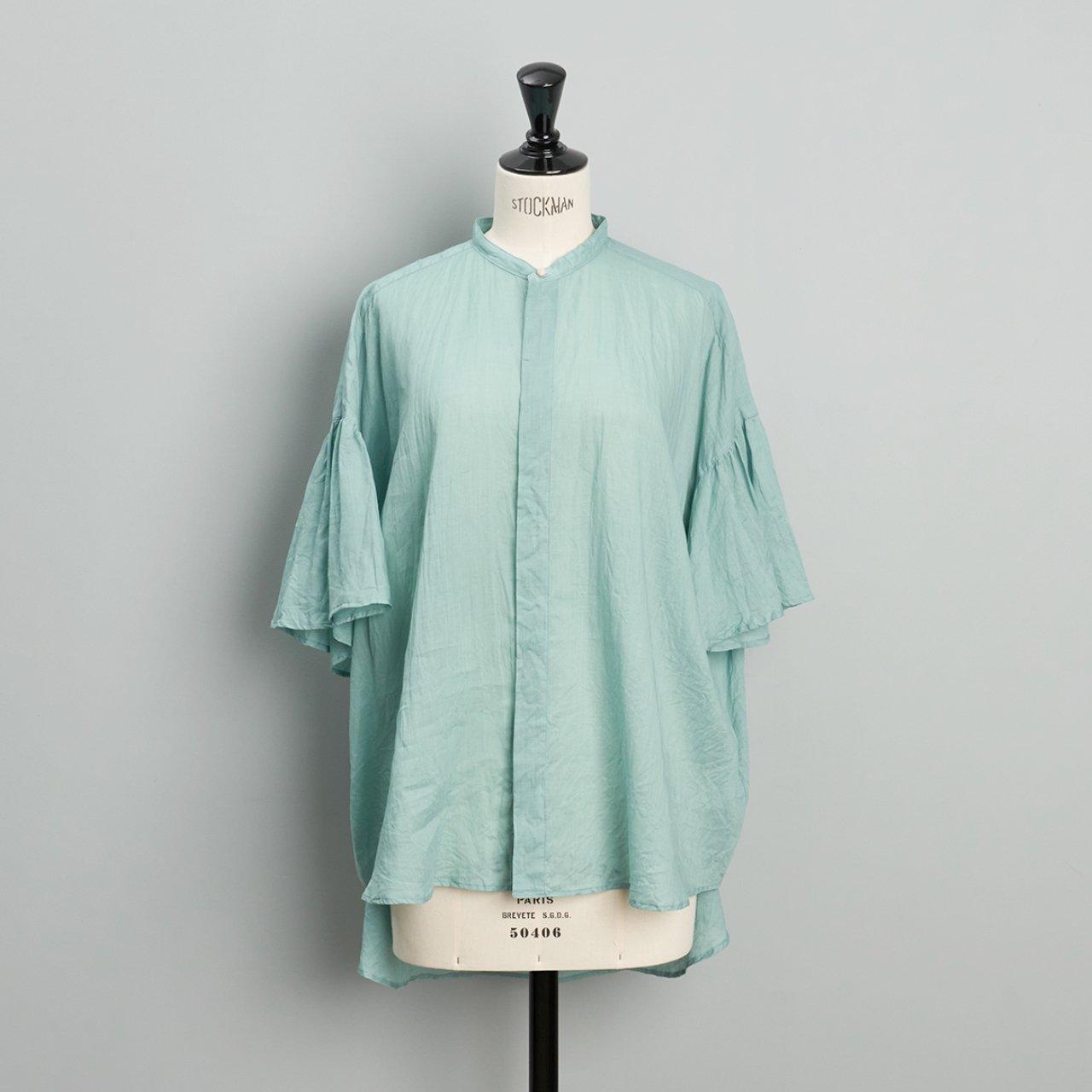 suzuki takayuki<BR>flared sleeve blouse<BR>Spray green
