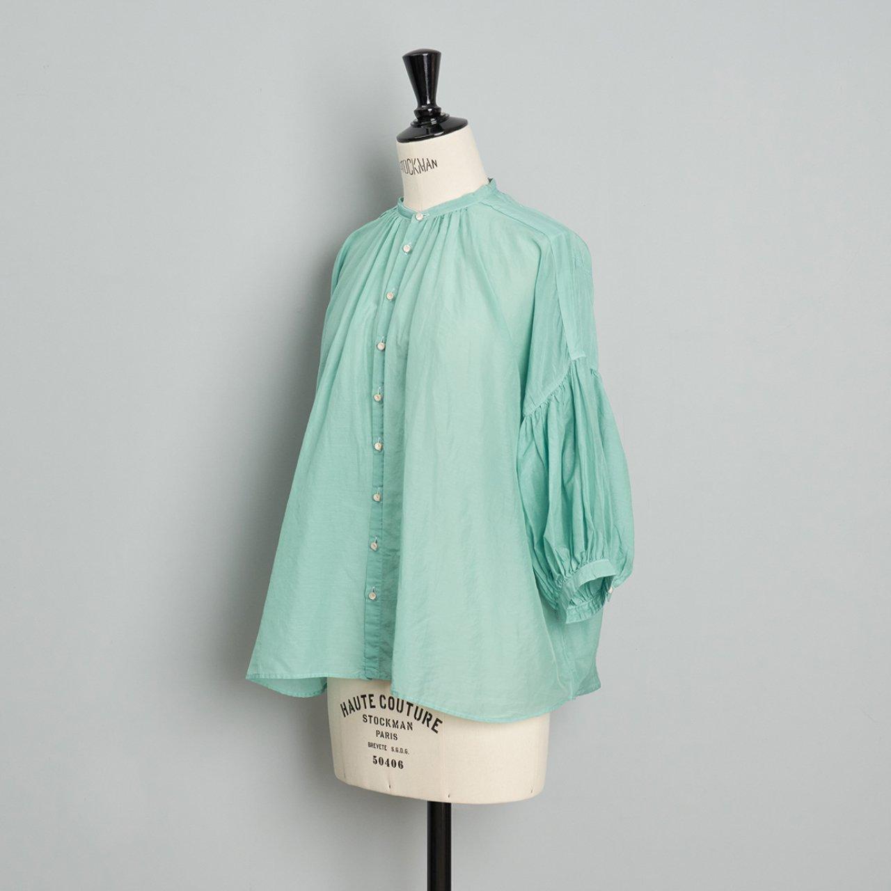 suzuki takayuki<BR>puff sleeve blouse<BR>Spray green
