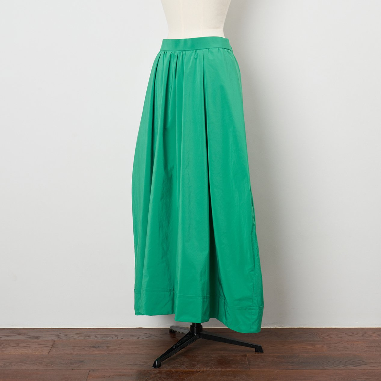 Pale Jute <BR>maxi skirt<BR>green