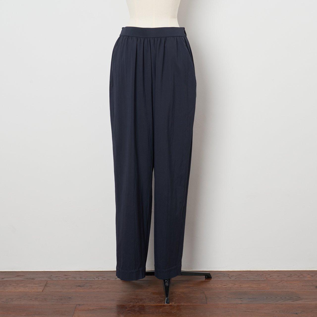 Pale Jute <BR>basic gather pants<BR>navy