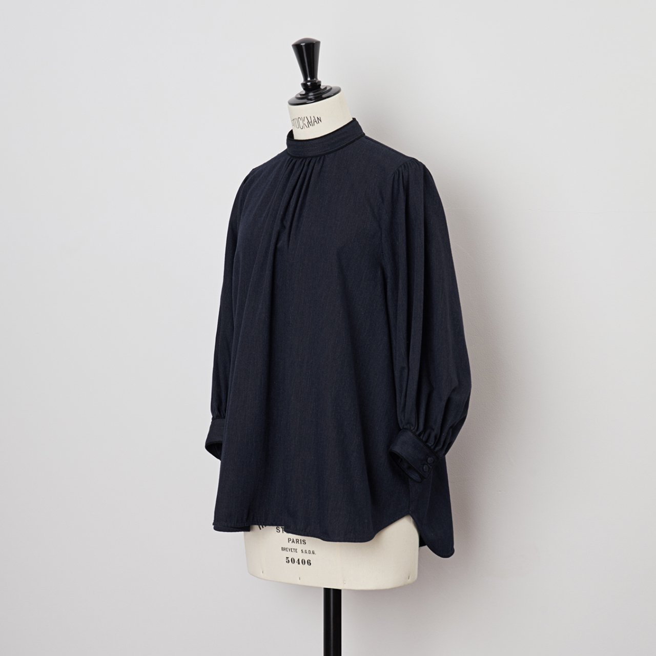 PaleJute<BR>PO blouse<BR>INDIGO