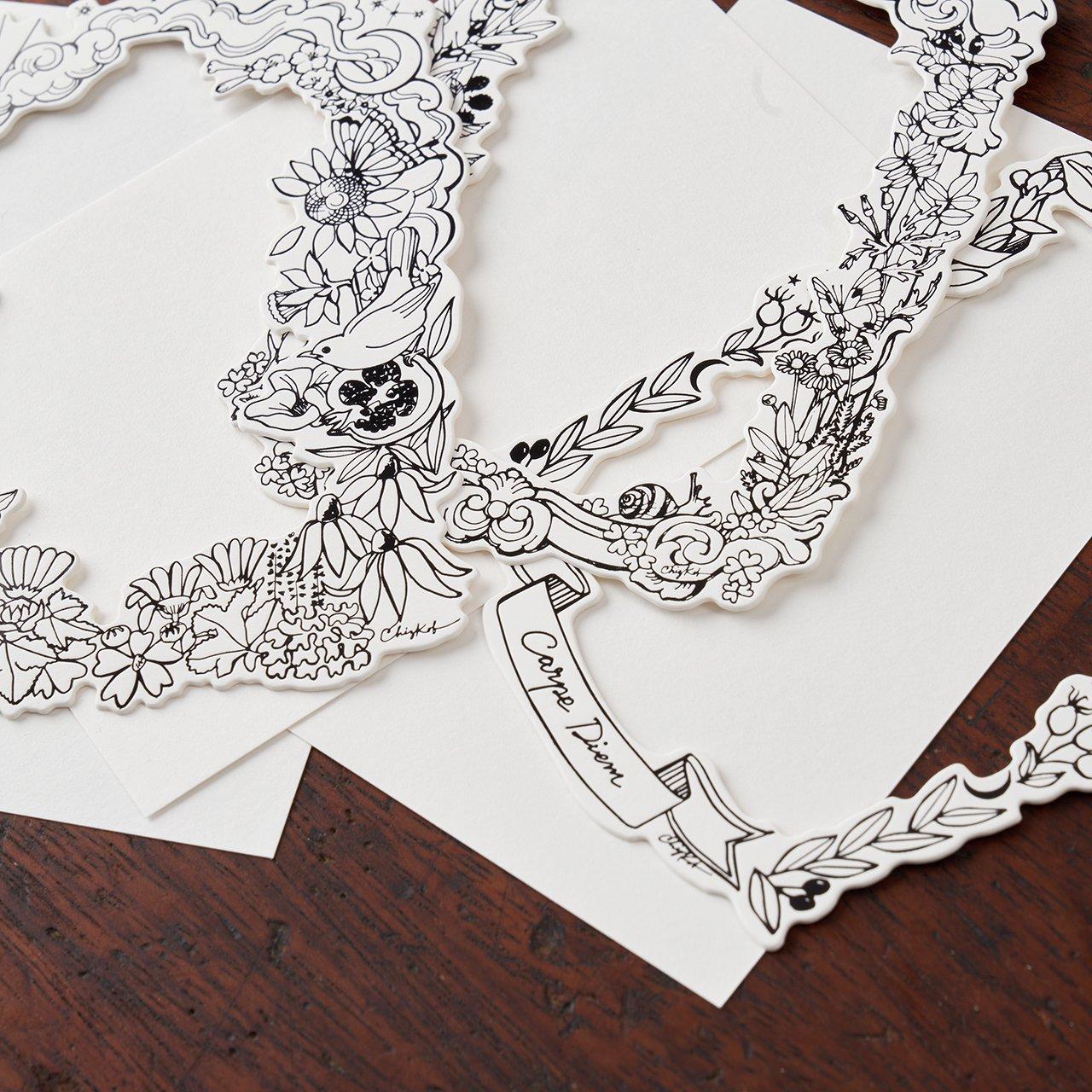 PaleJute<BR>Pale Jute × Chizu Kobayashi<BR> Flame ornament letter set